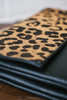 Leopard Crossbody Clutch - Camel/Black