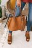 Chelsea Market Tassel Handbag - Brown
