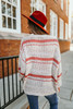 Open Knit Striped Sweater - Natural/Coral - FINAL SALE