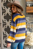 Stella Striped Sweater - Navy/Blue/Mustard/Ivory
