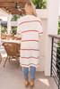 Striped Pocket Cardigan - Rust/Ivory - FINAL SALE