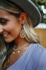 Filigree Teardrop Statement Earrings - Gold