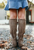 Faux Suede Strips Galore Boots - Taupe - FINAL SALE