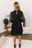Diamond Lace Tiered Dress - Black