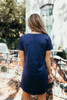 Faux Suede Shift Dress - Navy - FINAL SALE