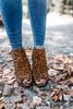 Leopard Peep Toe Booties - Camel  Multi - FINAL SALE