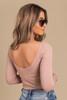 Free People Sprinkled in Gold Pink Bodysuit
