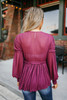 Free People Day Dreaming Blouse - Plum - FINAL SALE