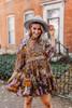 Free People Nouveau Mini Dress - Olive Combo - FINAL SALE