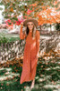 Free People Hello and Goodbye Midi Dress - Rich Combo