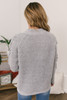 Criss Cross Sleeve Flecked Sweater - Grey - FINAL SALE