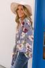Tie Front Floral Kimono - Lavender Multi - FINAL SALE