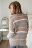 Multi Stripe Eyelash Sweater - Mocha Multi