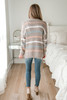 Multi Stripe Eyelash Sweater - Mocha Multi - FINAL SALE