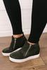 Steve Madden Wedgie Sneakers - Camo