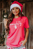 Naughty Graphic Tee - Red