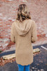 Two Tone Hooded Cardigan - Camel
