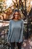 Bundle Up Seam Detail Sweater - Grey