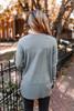 Bundle Up Seam Detail Sweater - Grey - FINAL SALE