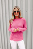 Crew Neck Magenta Sweater