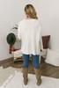 V-Neck Seam Detail Sweater - Ivory