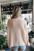 V-Neck Boxy Blush Sweater