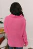 Elle Cowl Neck Sweater - Hot Pink - FINAL SALE