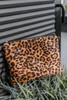 Leopard Crossbody Clutch - Brown