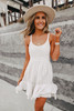 Free People Encrusted Ivory Mini Dress