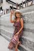Free People Tangier Babydoll Black Midi Dress
