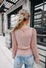 Free People Mauve Crystallized Sweater