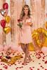 V-Neck Hearts & Kisses Pink Dress