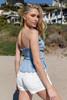 Vintage Havana White Linen Shorts