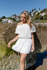 Vintage Havana Off the Shoulder White Dress - FINAL SALE