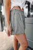 Smocked Waist Olive Layered Shorts