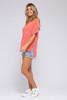 Sadie & Sage Boardwalk Coral Knit Top