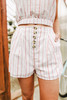 Sadie & Sage Harmony Striped Shorts