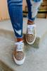 Faux Suede Cheetah Platform Sneakers
