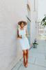 Ruffle Strap Tie Back Ivory Dress - FINAL SALE