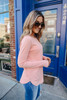 Lightweight Boatneck Peach Soft Sweater