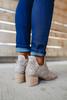 Cecilia Peep Toe Grey Perforated Booties