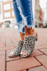 Bianca Leopard Peep Toe Mules