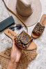 Swank Studded Leopard Sandals