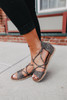 Destiny Strappy Grey Leopard Sandals