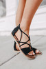 Destiny Strappy Black Sandals