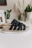 Lindy Strappy Black Espadrille Sandals