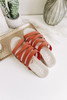 Lindy Strappy Peach Espadrille Sandals