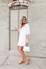 Square Neck White Eyelet Dress