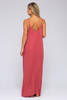 V-Neck Fiesta Red Maxi