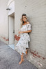 Off the Shoulder Tiered Floral Midi Dress